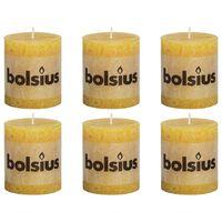 Bolsius Žvakės, 6vnt., aukso geltonos, 80x68mm, cilindro formos