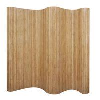 vidaXL Kambario pertvara iš bambuko, natūralios spalvos, 250x165 cm