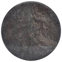 vidaXL Stalviršis, juodos spalvos, skersmuo 50x2,5cm, marmuras