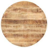 vidaXL Stalviršis, 60cm, mango medienos masyvas, apskritas, 15-16mm