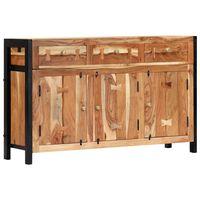 vidaXL Šoninė spintelė, 120x35x75cm, akacijos medienos masyvas