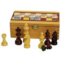 Abbey Game Šachmatų figūros, juodos/baltos, 87mm, 49CL