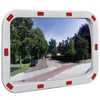 Kelio veidrodis, oranžinis, stačiakampis, 40x60cm, PC plastikas