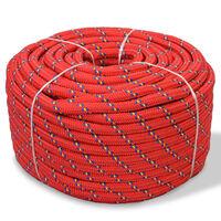 vidaXL Jūrinė virvė, raudona, 250m, polipropilenas, 12mm
