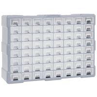 vidaXL Stelažas su 64 stalčiais, 52x16x37,5cm