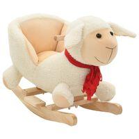 vidaXL Supamas gyvūnas su atlošu, avis, pliušas, 60x32x50cm, baltas