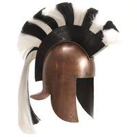 vidaXL Graikijos kario šalmas, vario, plienas, antikvarinė kopija