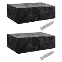 vidaXL Sodo baldų uždangalai, 2 vnt., 10 kilpų, 300x140cm, (2x41642)
