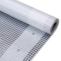 vidaXL Leno tentas, baltas, 1,5x10 m, 260 g/m²