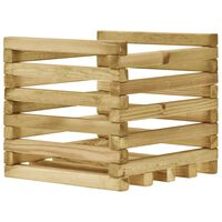 vidaXL Aukštas sodo lovelis, 40x40x38,5cm, impregnuota pušies mediena