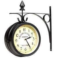 vidaXL Dvipusis laikrodis, 20 cm