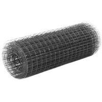 vidaXL Vielos tinklas su PVC danga, pilkas, 25x0,5m