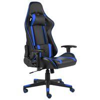 vidaXL Pasukama žaidimų kėdė, mėlynos spalvos, PVC
