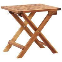 vidaXL Sulankstomas sodo kavos staliukas, 40x40x40cm, akacijos masyvas