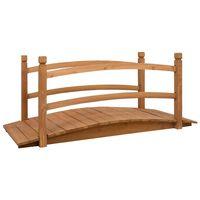 vidaXL Sodo tiltelis, 140x60x60cm, eglės medienos masyvas