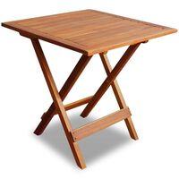 vidaXL Baro stalas, 46x46x47cm, akacijos medienos masyvas