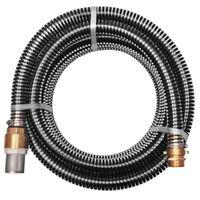 vidaXL Siurbimo žarna su žalvarinėmis jungtimis, 4 m 25 mm, juoda