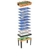 vidaXL Universalus žaidimų stalas, 15-1, klevo spalvos, 121x61x82cm