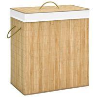 vidaXL Skalbinių krepšys, bambukas, 100l