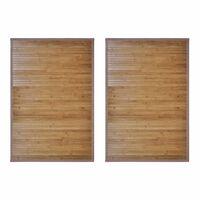 vidaXL Vonios kilimėliai, 2vnt., rudi, 60x90cm, bambukas (2x242112)