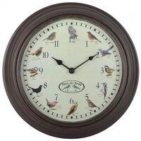 Esschert Design Laikrodis su paukščių garsais