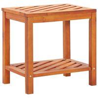 vidaXL Šoninis staliukas, 45x33x45cm, akacijos medienos masyvas