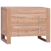 vidaXL Šoninė spintelė, 80x35x60cm, tikmedžio medienos masyvas