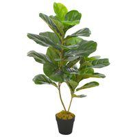 vidaXL Dirbtinis augalas lyralapis su vazonu, žalias, 90cm