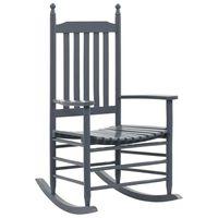 vidaXL Supama kėdė su išlenkta sėdyne, pilka, tuopos mediena