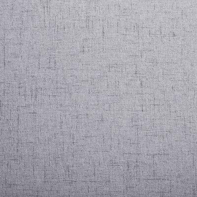 vidaXL Krėslas, šviesiai pilkas, audinys