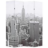 vidaXL Kambario pertvara, 160x170 cm, Niujorkas dieną, juoda ir balta