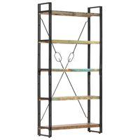 vidaXL Knygų lentyna, 5 aukštų, 90x30x180cm, medienos masyvas