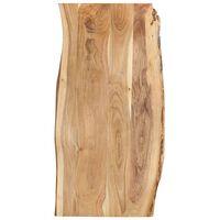 vidaXL Stalviršis, 120x(50-60)x2,5cm, akacijos medienos masyvas
