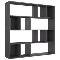 vidaXL Kambario pertvara/spintelė knyg., pilk. sp., 110x24x110cm, MDP