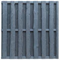 vidaXL Tvoros plokštė, pilkos spalvos, 180x180cm, pušies mediena