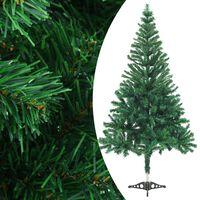 vidaXL Dirbtinė kalėdinė eglutė su stovu, 150 cm, 380 šakų