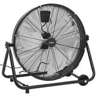 vidaXL Pramoninis ventiliatorius, juodos spalvos, 60cm, 180W