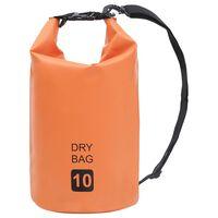 vidaXL Vandeniui atsparus krepšys, oranžinės spalvos, PVC, 10l