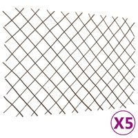 vidaXL Treliažai-tvoros, 5vnt., 180x120cm, gluosnis