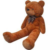 vidaXL XXL Minkštas pliušinis žaislas meškiukas, rudas, 135cm
