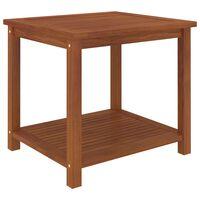 vidaXL Šoninis staliukas, akacijos medienos masyvas, 45x45x45cm