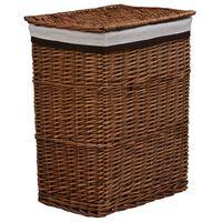 vidaXL Sudedamas skalbinių krepšys, rudos spalvos, gluosnis
