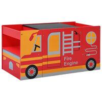 vidaXL Kėdžių ir stalo komplektas vaikams, 3d., gaisrinės automobilis