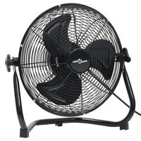 vidaXL Pastatomas ventiliatorius, juodas, 50cm, 3 greičiai, 120W