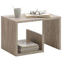 FMD Kavos staliukas, smėlio/ąžuolo spalvos, 59,1x35,8x37,8cm, 2-1