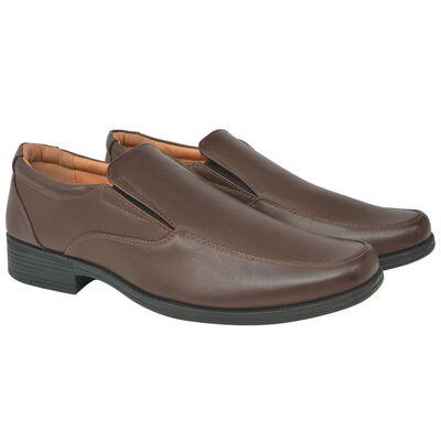 vidaXL Vyriški batai, rudi, dydis 43, PU oda