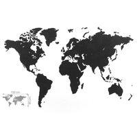 MiMi Innovations Sienos dekoracija-žemėlapis Luxury, juodas, 150x90cm