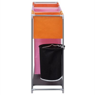 vidaXL Stovai su skalbinių rūšiavimo krepšiais ir kibiru, 2vnt,