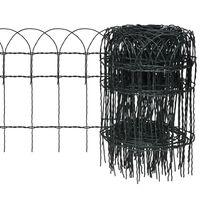 vidaXL Sodo tvora, 25x0,4 m, milteliniu būdu dengta geležis