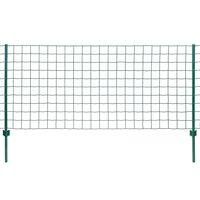 vidaXL Euro tvoros komplektas, 20x1,5m, plienas, žalias
